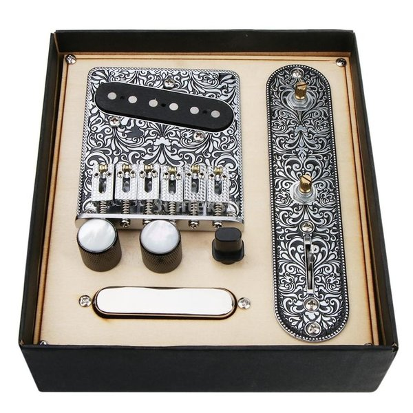 楽器機材関連用品テレキャスターギターアクセサリー配線済みコントロールプレートブリッジ