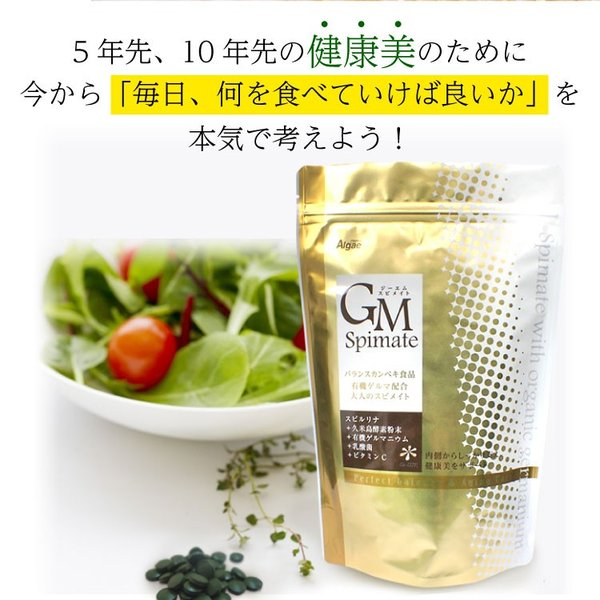 GMスピメイト 3600粒 スピルリナ 乳酸菌 酵素粉末 ビタミンC  サプリメント ポイント消化 健康食品 sp100 03