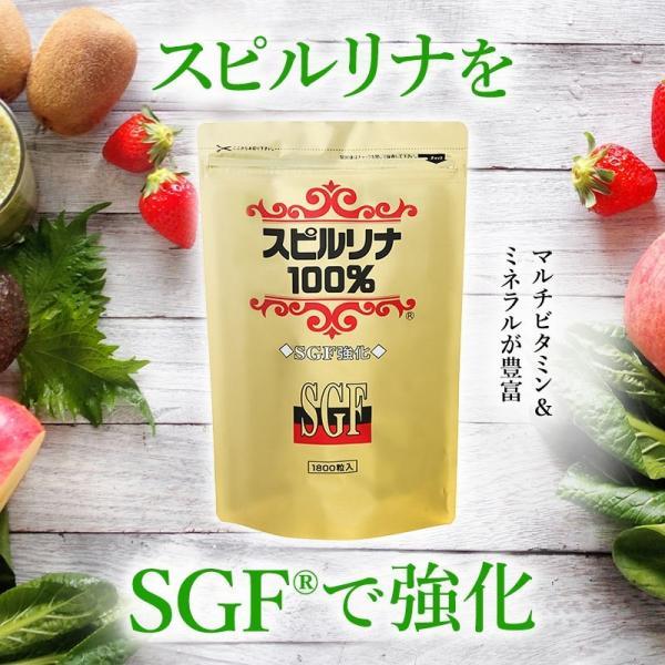 SGF強化スピルリナ100% 1800粒 6袋購入で1袋無料プレゼント サプリメント sp100 02