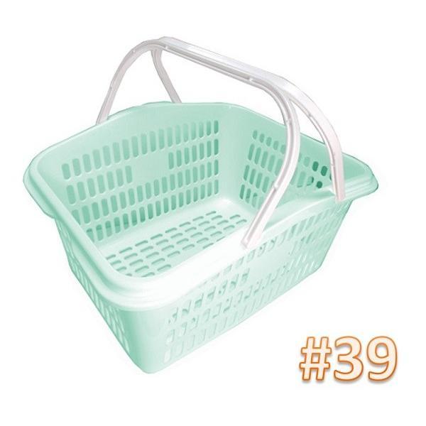 サンテールバスケット#39ミントブルー 【小物・伝票入れ 洗濯かご 収穫かご】