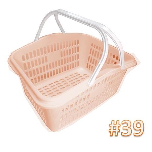 サンテールバスケット#39ペールオレンジ 【小物・伝票入れ 洗濯かご 収穫かご】