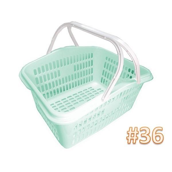サンテールバスケット#36ミントブルー 【小物・伝票入れ 洗濯かご 収穫かご】新色