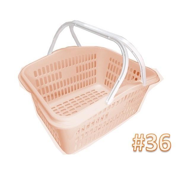 サンテールバスケット#36ペールオレンジ 【小物・伝票入れ 洗濯かご 収穫かご】新色