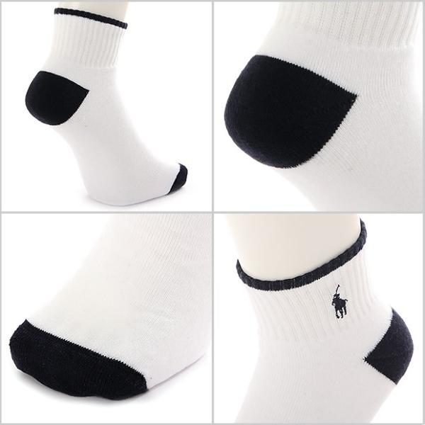 ラルフローレン 靴下 ソックス メンズ 3足セット POLO RALPH LAUREN ショートソックス ブランド 白 くるぶし 厚手 カジュアル|spark|02