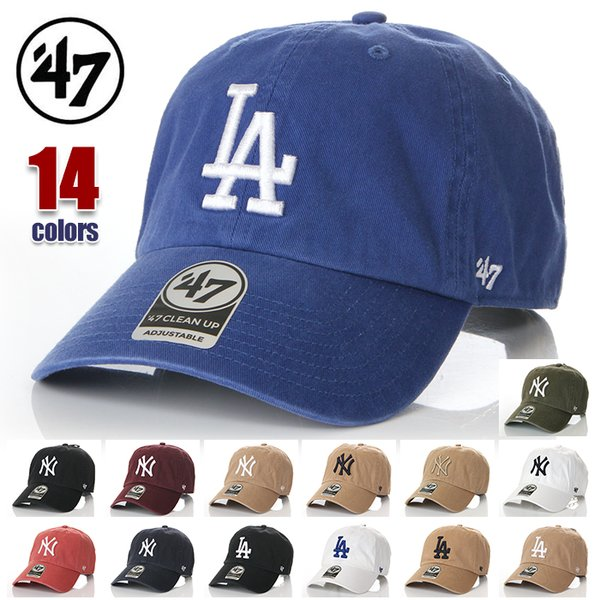 47BRANDキャップレディースメンズ帽子フォーティーセブンブランドCAPNYLAニューヨークヤンキースロサンゼルスドジャース黒