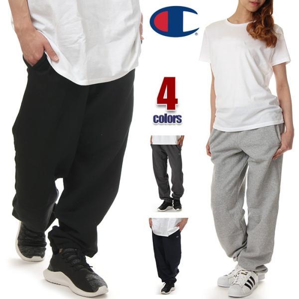 チャンピオン スウェットパンツ メンズ レディース CHAMPION POWERBREND USAモデル スウェット パンツ ロゴ 無地 裏起毛 大きいサイズ
