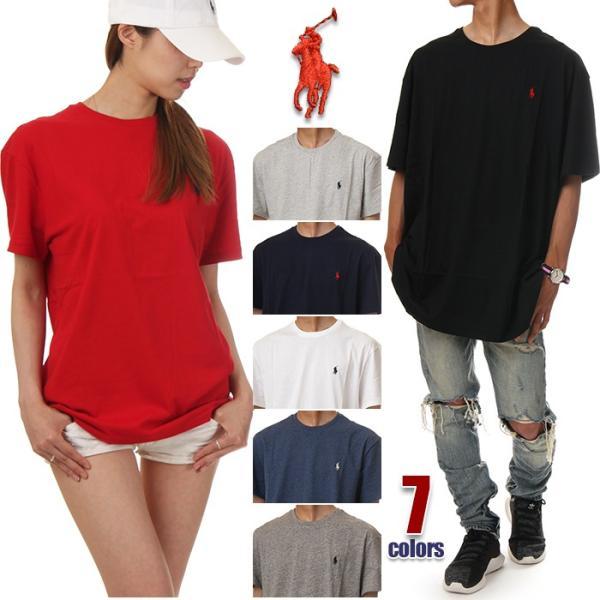 bf33d885d42787 ラルフローレン Tシャツ メンズ レディース POLO RALPH LAUREN 半袖 Tシャツ ロゴ 無地 大きいサイズ ...