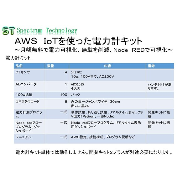 AWS IoTを使った電力計キット+開発キット2プラス:セット品|spectrum-tech-y|02