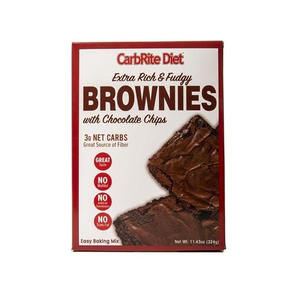 エクストラリッチ&ファジーチョコレートチップブラウニーベーキングパウダー 324g(11.43oz)CarbRite Diet(カーボライトダイエット)