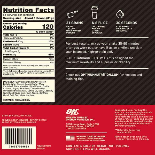 [正規代理店] オプティマム ゴールドスタンダード 100% ホエイ プロテイン クッキー&クリーム味 2.1kg オプチマム|speedbody|02