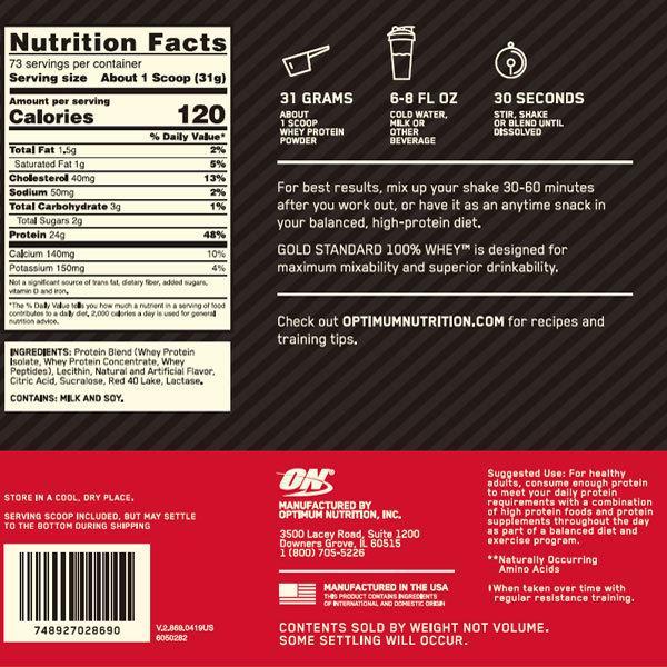 ゴールドスタンダード 100% ホエイプロテイン デリシャスストロベリー 5ポンド 2.27kg Optimum Nutrition|speedbody|02