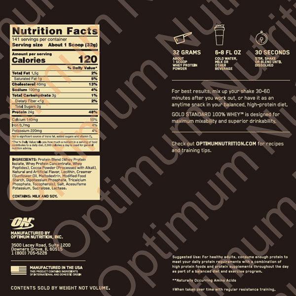 【正規代理店】ゴールドスタンダード 100% ホエイプロテイン エクストリーム ミルク チョコレート 4.54kg Optimum Nutrition オプティマムニュートリション|speedbody|02