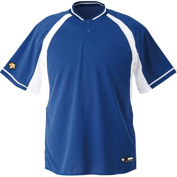 デサント DESCENTE  ジュニア 野球 2ボタンベースボールシャツ JDB103B RYSW