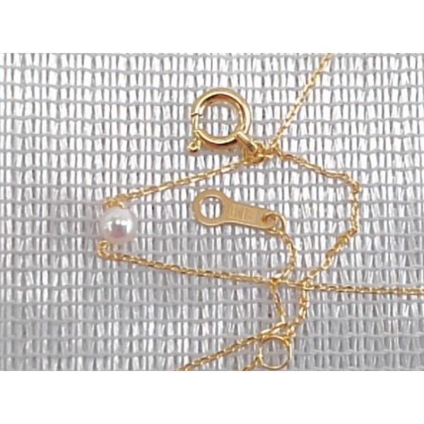 ツジモト真珠の ベビーパール  あこや本真珠 K18 スルー  貫通ネックレス|spicapearl|02
