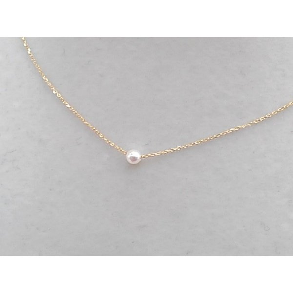 ツジモト真珠の ベビーパール  あこや本真珠 K18 スルー  貫通ネックレス|spicapearl|03