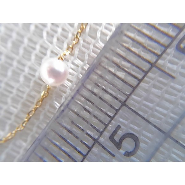 ツジモト真珠の ベビーパール  あこや本真珠 K18 スルー  貫通ネックレス|spicapearl|04