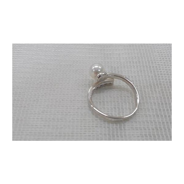 あこや真珠 リング バンド ジルコニア SV製 フリーサイズ 指輪 カジュアル|spicapearl|03