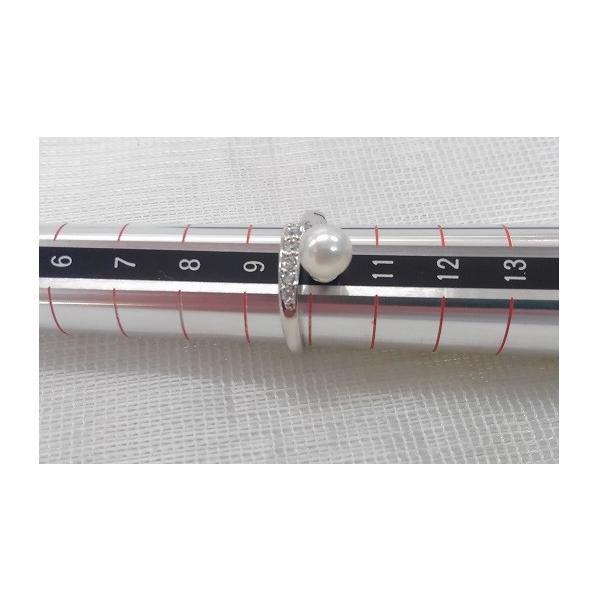 あこや真珠 リング バンド ジルコニア SV製 フリーサイズ 指輪 カジュアル|spicapearl|04