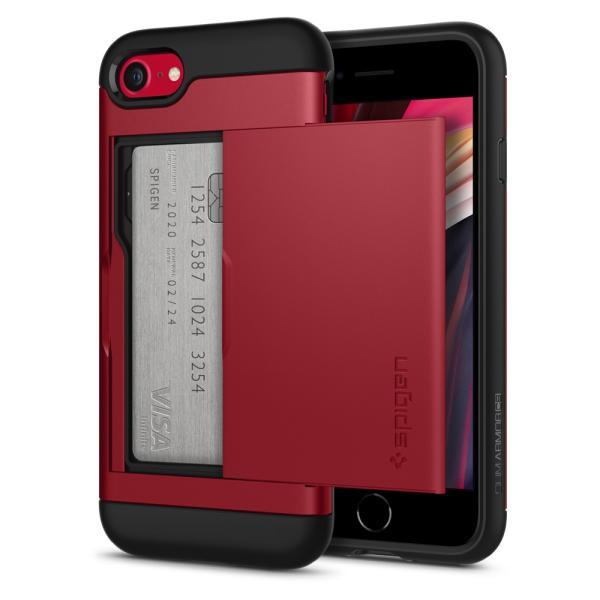 Spigen iPhone SE [第2世代] / iPhone8 / 7 ケース  スリム・アーマー CS 耐衝撃  MIL規格取得 Qi充電 ICカード収納