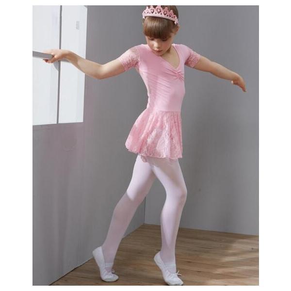 バレエ レオタード  キッズダンス  衣装  演出服  子供  半袖  ダンス  ワンピース  舞台  練習着  レーススカート  お姫様  ステージ|spillhope0601|05