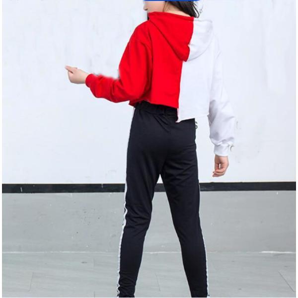 キッズダンス衣装 ヒップホップ ダンスウェア パーカー パンツ ジャズダンス キッズ ジャズダンス 発表会 練習着 spillhope0601 04