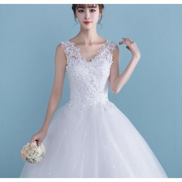 超人気 ウエディングドレス ロングドレス ブライダル 結婚式 お花嫁 白 ホワイト パーティードレス 二次会 ドレス エンパイアライン 姫系 |spillhope0601