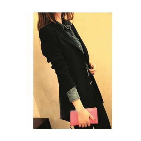 テーラードジャケット フォーマル ロング丈 レディース アウター スーツジャケット ブレザー 制服 通勤通学 入学式 卒業式|spillhope0601|05