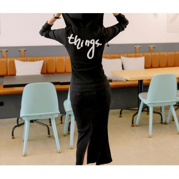 セットアップ 上下セット レディース ジャージセット パーカー スカート ジップアップ スウェット 女子 着痩せ ルームウェア パジャマ spillhope0601 06