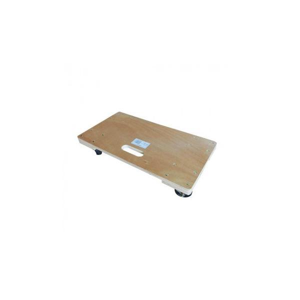 C 木製平台車 60×45cm TC-6045 同梱不可  キャスター 運ぶ 100kg 商品 板 買い物 スムーズ カート 荷物