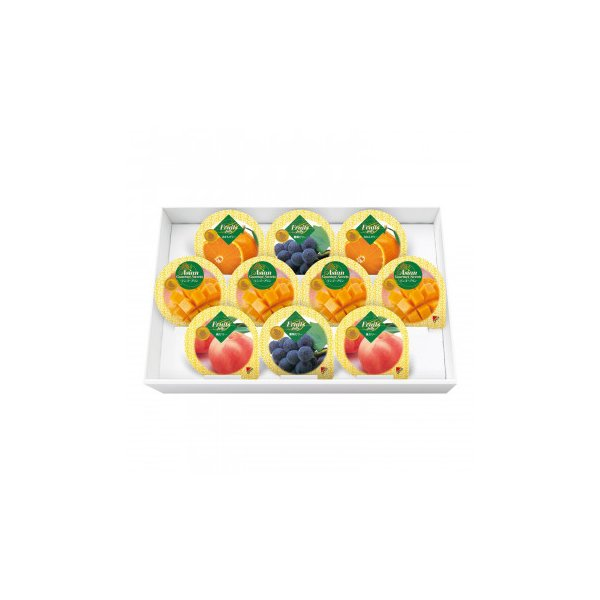 M 金澤兼六製菓 詰め合せ マンゴープリン&フルーツゼリーギフト 10個入×12セット MF-10 代引き不可