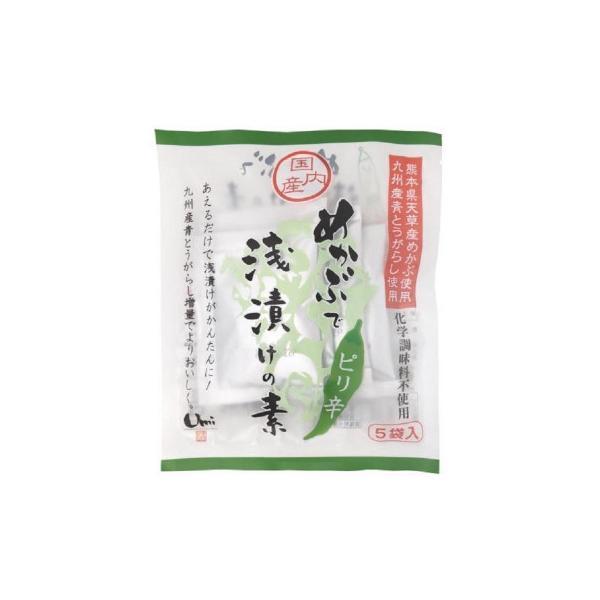 M めかぶで浅漬けの素 ピリ辛 (7g×5袋)16セット J10-003 代引き不可 きゅうり 健康 海藻