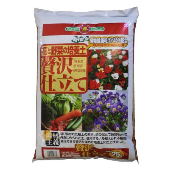 M SUNBELLEX 花と野菜の培養土 贅沢仕立て 25L×6袋 代引き不可 ガーデニング 園芸 ばいようど 肥料 花の土 日本製 プランター 土 地球にやさしい 園芸用品