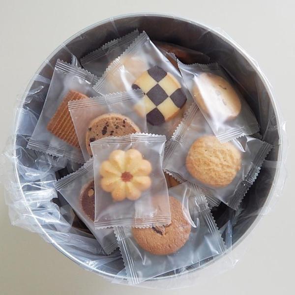 M バケツ缶(クッキー) 個包装 代引き不可 詰め合わせ くっきー スイーツ お茶菓子 ギフト 自宅用 子ども お菓子 大人 8種類