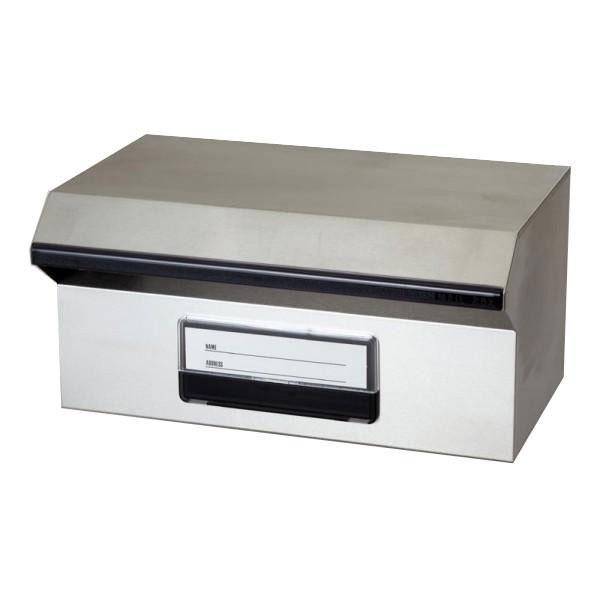 M KGY ブロックポストF-450 代引き不可 ステンレス 埋め込み 郵便受け メールボックス 大き目 シンプル 玄関 郵便ポスト スタンド 長方形 A4サイズ