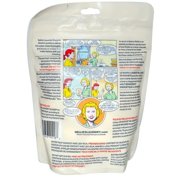 ネリーズ オールナチュラル ランドリーナゲット 無香料 洗濯用洗剤 36回分|spl|02