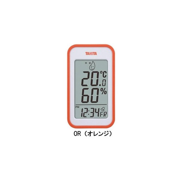 TANITA タニタ デジタル温湿度計 TT-559 OR・TT-559-OR アラーム 温度計 置き時計