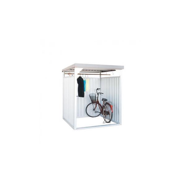 万能物置 間口1600タイプ 壁パネルロングタイプ 組立式 DM-7L型 自転車置き場 屋根 収納庫