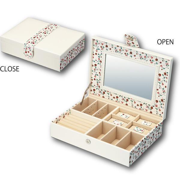 ユーパワー Flower Jewelry Box フラワー ジュエリー ボックス Lサイズ ホワイト FB-04501 送料無料
