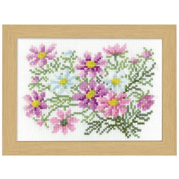 オリムパス クロス・ステッチ刺しゅうキット 12ヶ月の花フレーム 9月コスモス 7516 裁縫 ハンドメイド 壁