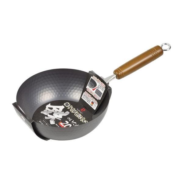パール金属 軽くてサビにくい鉄のいため鍋 20cm HB-4677 調理器具 軽い 料理