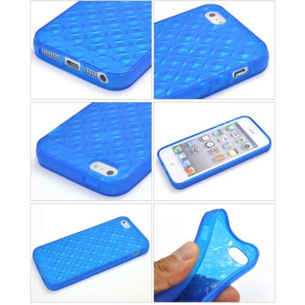iPhone5/5s/SE専用カラーモザイクソフトケース/8色から選べる|splash-wall|02