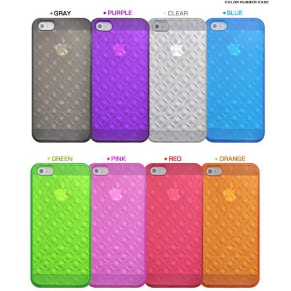 iPhone5/5s/SE専用カラーモザイクソフトケース/8色から選べる|splash-wall|03