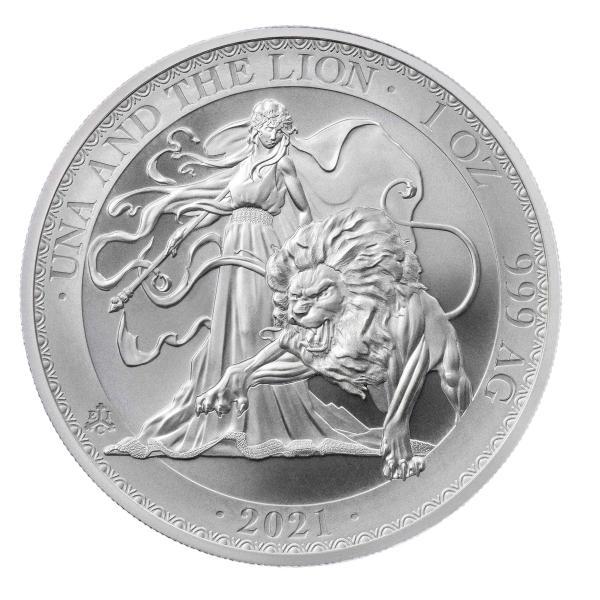  未流通品 2021年 セントヘレナ ウナ&ライオン 銀貨 1oz シルバーコイン .999 趣味 …