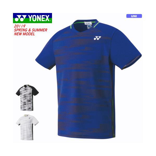 318758aaf293c YONEX ヨネックス ソフトテニス ウェア ユニホーム ゲームシャツ 半袖シャツ ユニセックス 男女兼用 バドミントン【1