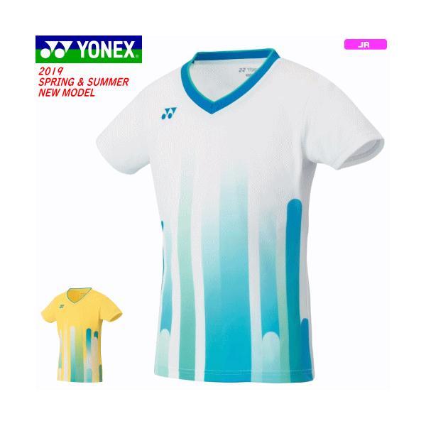 94c63db98db65 YONEX ヨネックス ソフトテニス ウェア ユニホーム ゲームシャツ 半袖シャツ ジュニア 子供用 女の子用 バドミントン【
