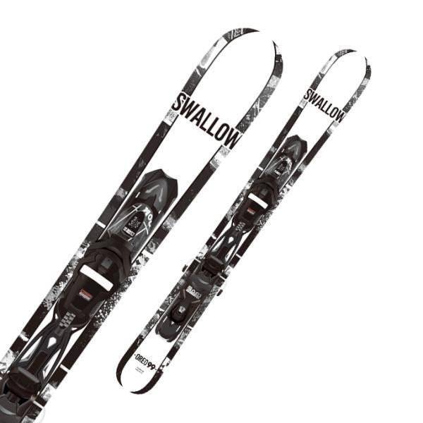 SWALLOW ( スワロー スキー板 ) ファンスキー・スキーボード・ショートスキー 【20/21/22】 OREO 99 WHT + Look Xpress 10 B93 【金具付き スキーセット】