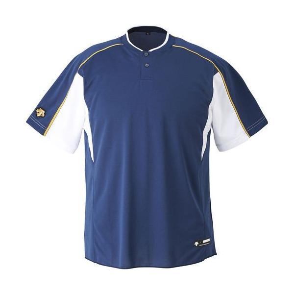 DESCENTE デサント ユニセックス 野球・ソフトボール 2ボタンベースボールシャツ DB-104B NVSW