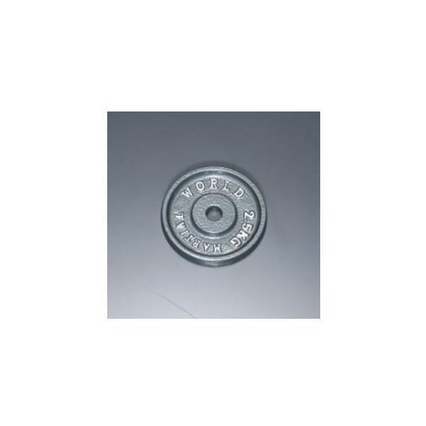 マーシャルワールド アイアンプレート穴径28mm 2.5kg P2500 バーベル/ダンベル用