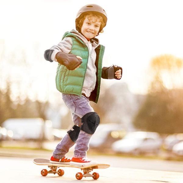 自転車用プロテクター キッズ プロテクター 6点セット 膝肘手首 保護パッド 子供用 スケボープロテクター インラインスケート メッシュポーチ付き sports-wear 07