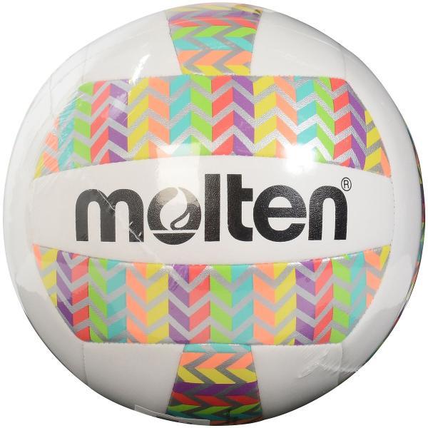 molten モルテン レジャーバレーボール レインボー 5号 MS500-RCHEV バレーボール 5号ボール ホワイト 5号球